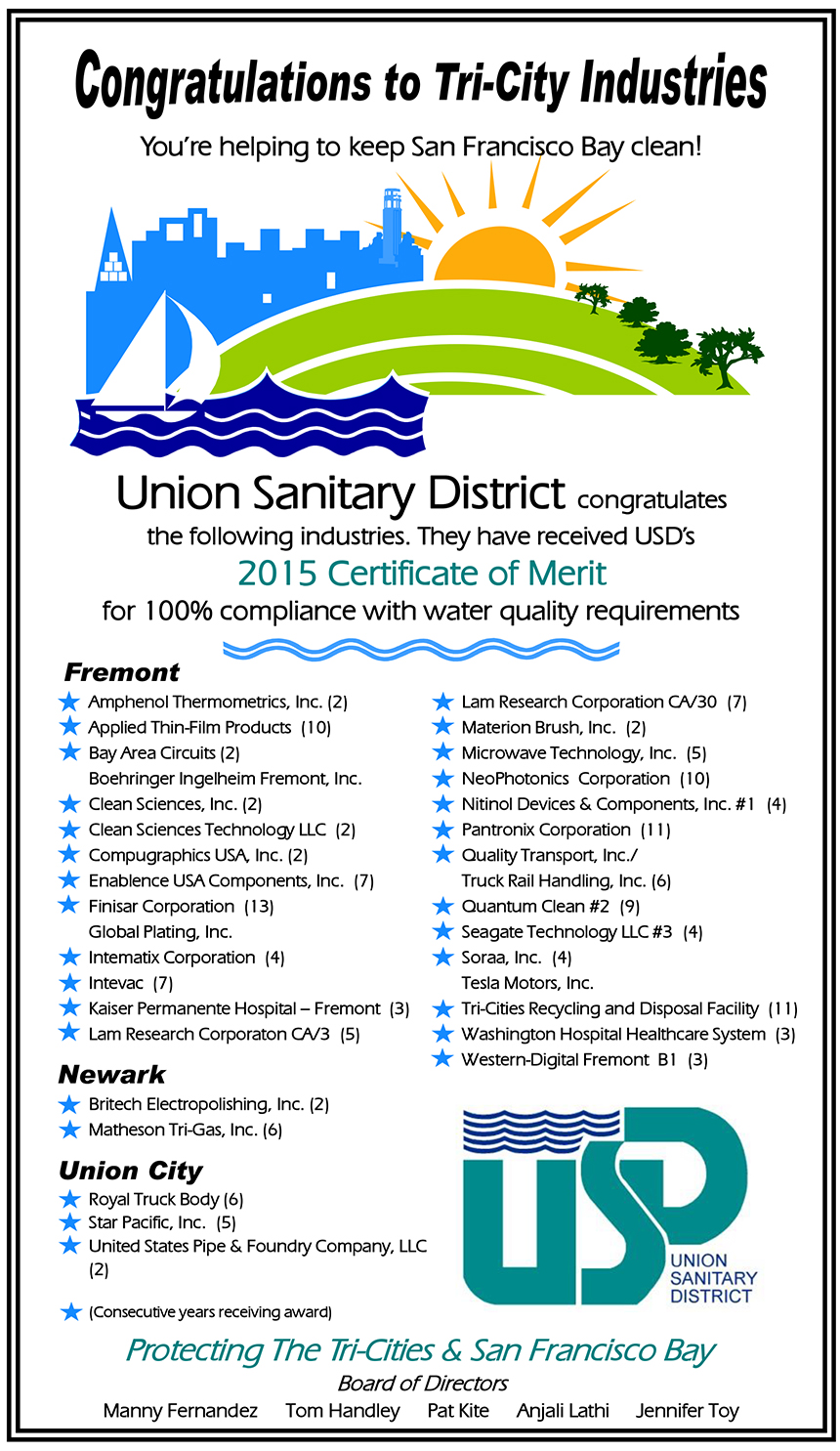 merit certificate sample certificate of merit program union sanitary district 65