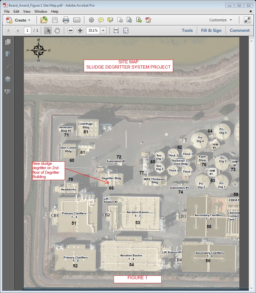 Construction Site Map: Union Sanitary District
